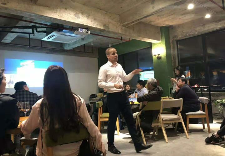Addressing a learning group in China (April 2018)