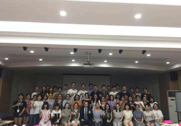 Delivering a Business Development workshop to a Chinese MNC (June 2019)